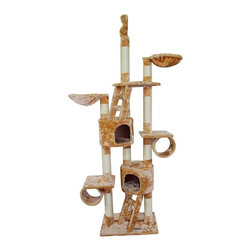 Kitty Mansions - Kitty Mansions New York Cat Tree - NEW YORK-BEIGE - Shop for Towers and Houses and Accessories from Hayneedle.com! For the cat with an empire state of mind there's the Kitty Mansions New York Cat Tree. This classic cat tree features six platforms with a master bedroom two barrels and multiple scratching posts located throughout. A pole is located on top for those cats who like to be on top of the world. Top anchors to standard ceilings for stability.