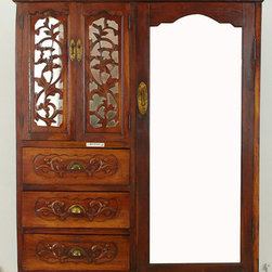 Chinese Cabinet with Mirrored Door - Chinese Cabinet with Mirrored Door
