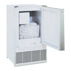 U-Line - 110V Marine Ice Maker, Field Reversible Door, White - Daily crescent ice rate - up to 23 lbs