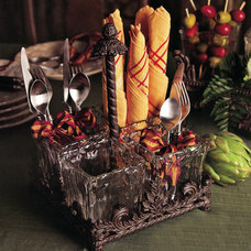 Traditional Utensil Holders And Racks by Iron Accents