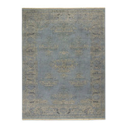 Uttermost - Traditional Yalova 6'x9' Rectangle Pale Blue, Beige Area Rug - The Yalova area rug Collection offers an affordable assortment of Traditional stylings. Yalova features a blend of natural Pale Blue, Beige color. Hand Knotted of Wool the Yalova Collection is an intriguing compliment to any decor.