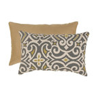 Pillow Perfect - Pillow Perfect Gray and Greenish-Yellow Damask Rectangular Throw Pillow - 475097 - Shop for Pillows from Hayneedle.com! Bold colors and a modern damask pattern make the Gray/Greenish-Yellow Damask Rectangular Throw Pillow a stylish choice for your space. This rectangular pillow has a polyester shell with pattern on one side and solid color on the reverse. It's filled with plush polyester fiber for style and comfort. The image shown indicates both front and back of pillow. About Pillow PerfectPillow Perfect was founded by Paul and David Ratner two brothers with a passion for comfortable design stylish functionality and a commitment to pleasing their customers. With over 25 years in the business the founders of Pillow Perfect operate just North of Atlanta Georgia and have been producing products that add style and color to home and patios across the US. Keeping up with styles trends consumer needs and quality assurance makes them a major player in the industry. Their manufacturing facility brings all their ideas together and makes them a reality for customers all over the country and through drop-ship online retailers all over the world.