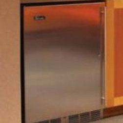 """Perlick - HA24RB1L 24""""  4.8 cu. ft. Capacity ADA Compliant  Built-In Counter Depth  Stainl - The 24 ADA-Compliant Refrigerator by Perlick is designed to stand 32 high for maximum capacity while still adhering to ADA regulations Featuring stainless steel interior and Perlicks RAPIDcool Refrigeration system this unit is suitable for a variety ..."""