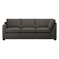 Davis Left Arm Sectional Corner Sofa - Davis is a contemporary compact sectional designed for contemporary real life. Every imaginable configuration is possible between these modular pieces and the companion stand-alone pieces, all with firm but plump support. Understated hardwood legs come in a variety of finish options.