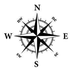 Dana Decals - Compass Nautical Design Wall Decal - Compass Nautical Adventure
