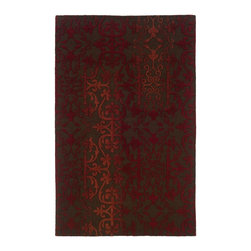"""Oriental Weavers - Transitional Ventura 3'6""""x5'6"""" Rectangle Brown-Red Area Rug - The Ventura area rug Collection offers an affordable assortment of Transitional stylings. Ventura features a blend of natural Brown-Red color. Handmade of Wool-Wool Viscose the Ventura Collection is an intriguing compliment to any decor."""