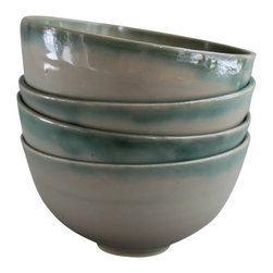 Mint Cereal Bowl Set - These lovely bowls are sold in sets of 4. Super versatile, a great size for a bowl of soup or cereal. The clean modern shape makes it the go-to bowl for almost anything.