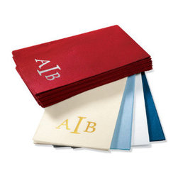Grandin Road - Set of 100 Monogrammed Guest Towels - Use our Monogrammed Guest Towels to add a luxurious touch for holiday guests. These comforting, air-laid paper towels each boast a three-letter monogram to add personal decor to your guest bathroom.Personalized items are not returnable.