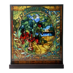 Summit - Tiffany Summer Stained Glass - This gorgeous Tiffany Summer Stained Glass has the finest details and highest quality you will find anywhere! Tiffany Summer Stained Glass is truly remarkable.