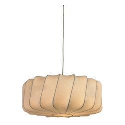 Sterling Industries - 44-005 Lochend-Off-White Fabric Pendant On Twisted Drum Shade - Pendant (1)