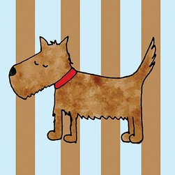 Oh How Cute Kids by Serena Bowman - Dirty Dog Stripes, Ready To Hang Canvas Kid's Wall Decor, 11 X 14 - Each kid is unique in his/her own way, so why shouldn't their wall decor be as well! With our extensive selection of canvas wall art for kids, from princesses to spaceships, from cowboys to traveling girls, we'll help you find that perfect piece for your special one.  Or you can fill the entire room with our imaginative art; every canvas is part of a coordinated series, an easy way to provide a complete and unified look for any room.