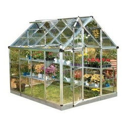 Palram Polycarbonate Greenhouse - I've dreamed of having my own greenhouse to grow flowers in all year long. This one seems like just the right size.