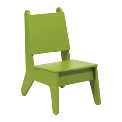 "Loll Designs - BBO2 Kids Chair by Loll Designs - Built to weather the toughest storm, the Loll designs BBO2 Kids Chair is definitely ready for years of rigorous playtime with the kids. Its easy-to-clean surface and rounded edges eases a parent's safety concerns while the recycled and recyclable composition eases stress on the environment. Mix chair parts of two or more chairs and create personalized color combinations. Loll Designs creates ""outdoor furniture for the modern lollygagger."" Founded in 2003, Loll specializes in the use of recycled materials (primarily plastic milk jugs) to create their long-lasting, low-maintenance and, of course, super-stylish outdoor chairs, tables, benches and other outdoor furnishings. All Loll products are designed and made in Duluth, Minnesota."