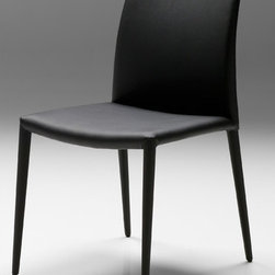 "Mobital - Zeno Side Chair (Set of 2) - The Zeno Chair is the ultimate modern chair that coordinates with almost any dining table. Features: -Steel framing and seat deck.-Leatherette wrapped body.-Lightly padded for extra comfort.-Leatherette for easy cleaning.-Collection: Zeno.-Distressed: No.-Powder Coated Finish: No.-Gloss Finish: No.-Frame Material: Steel.-Non-Toxic: Yes.-Scratch Resistant: No.-Rust Resistant: No.-Stain Resistant: Yes.-Fire Retardant: Yes.-Mildew Resistant: Yes.-Arms Included: No.-Upholstered Seat: Yes -Seat Upholstery Material: Polyurethane/Leatherette.-Removable Seat Cushions: No.-Removable Seat Cushion Cover: No.-Tufted Seat Upholstery: No.-Welt on Seat Cushions: No..-Upholstered Back: Yes -Back Upholstery Material: Polyurethane/Leatherette.-Removable Back Cushions: No.-Back Cushion Fill Material: Foam.-Removable Back Cushion Cover: No.-Tufted Back Upholstery: No.-Welt on Back Cushions: No..-Nailhead Trim: No.-Swivel: No.-Foldable: No.-Stackable: No.-Number of Legs: 4.-Leg Material: Stainless Steel Wrapped in Leatherette.-Casters: No.-Protective Floor Glides: Yes.-Adjustable Height: No.-Ergonomic Design: No.-Saddle Seat: No.-Outdoor Use: No.-Weight Capacity: 250 lbs.-Swatch Available: No.-Commercial Use: No.-Recycled Content: No.-Product Care: Clean product with a damp cloth and mild detergent.Specifications: -FSC Certified: No.-ISTA 3A Certified: Yes.-General Conformity Certificate: Yes.-Green Guard Certified: No.-ISO 14000 Certified: Yes.Dimensions: -Overall Height - Top to Bottom: 32"".-Overall Width - Side to Side: 19"".-Overall Depth - Front to Back: 21"".-Seat Height: 18"".-Seat Width - Side to Side: 19"".-Seat Depth - Front to Back: 16.5"".-Overall Product Weight: 24 lbs.Assembly: -Assembly Required: No.-Additional Parts Required: No.Warranty: -Product Warranty: One year warranty against manufacturer defects."
