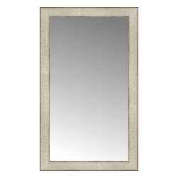 """Posters 2 Prints, LLC - 17"""" x 28"""" Libretto Antique Silver Custom Framed Mirror - 17"""" x 28"""" Custom Framed Mirror made by Posters 2 Prints. Standard glass with unrivaled selection of crafted mirror frames.  Protected with category II safety backing to keep glass fragments together should the mirror be accidentally broken.  Safe arrival guaranteed.  Made in the United States of America"""