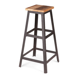 ZUO ERA - Cora Barstool Distressed Natural - Cora Barstool Distressed Natural