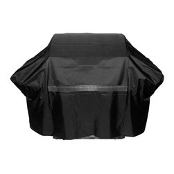 FH Group - FH Group Black Medium 65-inch Premium Grill Cover - Protect your grill from the elements with this black grill cover from FH Group. Constructed from durable polyester fabric,this grill cover is breathable and easy to clean. A mesh vent on the front promotes airflow and inhibits the growth of mildew.