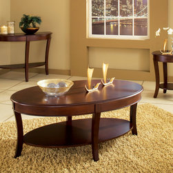Steve Silver Furniture - Steve Silver Troy 3 Piece Occasional Table Set - The Troy Occasional Set is simple elegance. Elegant pastoral comfort exudes from this finely-crafted occasional tables. - TY100C-3-SET.  Product features: Corner Blocked Construction; Tongue and Groove Joints; Rich Multi-Step Cherry Finish; Traditional Style. Product includes: Cocktail Table (1); End Table (1); Sofa Table (1). Troy 3 Piece Occasional Table Set belongs to Troy Collection by Steve Silver.