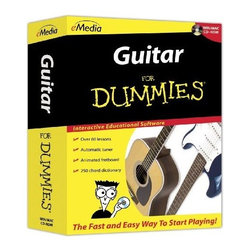 FOR DUMMIES - FOR DUMMIES FD12091 Guitar for Dummies - Interactive educational software; Over 80 step-by-step video-enhanced lessons; Over 50 songs with recorded audio & variable-speed MIDI tracks; Over 40 high-quality videos with full-screen option; Animated fretboard displays fingering positions as music plays; Lessons feature Kevin Garry, Ph.D., from the University of Colorado at Boulder; Learn to string & tune guitar, play simple chords, full chords, power chords, slash chords & use different strumming styles, such as folk, rock, blues & syncopated rhythms