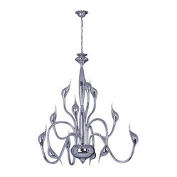 Bromi Design Swan Modern 12-Light Chandelier