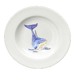 Caroline's Treasures - Dolphin Round Ceramic White Soup Bowl 8632-SBW-825 - Dolphin Round Ceramic White Soup Bowl 8632-SBW-825 Heavy Round Ceramic Soup Bisque Gumbo Bowl 8 3/4 inches. LEAD FREE, microwave and dishwasher safe. The bowl has been refired over 1600 degrees and the artwork will not fade or crack. The Artwork for this gift product and merchandise was created by Sylvia Corban copyright and all rights reserved.
