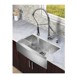 Vigo Industries - 31 in. Kitchen Sink and Faucet Set - Revitalize the look of your kitchen with a VIGO All in One Kitchen Set.