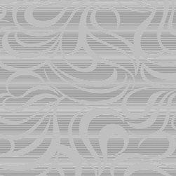 Wallpaper Worldwide - Carly - Scrolls Wallpaper, Light Grey - Material: PVC