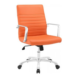 Modway Imports - Modway EEI-1534-ORA Finesse Mid Back Office Chair In Orange - Modway EEI-1534-ORA Finesse Mid Back Office Chair In Orange