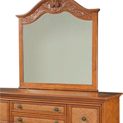 Broyhill - Broyhill Samana Cove Arched Dresser Mirror in Natural Amber - Broyhill - Mirrors - 4702237 - About This Product: