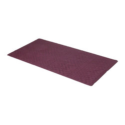 "Large (18'' x 36'') Slip-Resistant Rubber Bath Tub Mat in Burgundy - Rubber bath tub mat in Burgundy, size 36"" long x 18"" wide. Protect yourself in or out of the shower with our Large-Sized (18'' wide x 36'' long) Slip-Resistant Rubber Bath Tub Mat. This mat's numerous suction cups stick securely to slick surfaces, safeguarding you from potential slips and spills. Here in Burgundy, this style mat is available in variety of fashionable colors. Small (13'' w x 20'' l) and a medium-sized (16'' w x 28'' l) versions of this mat are also available.  Wipe clean with damp sponge with warm soapy cleaning solution"