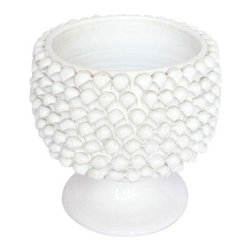 Pre-owned Large Scale Mid-Century Italian Pottery in White - Price just reduced!    An extraordinary piece of handmade Italian pottery with white glaze. A mid-century vintage beauty made in the 1960's. We love the unique texture! Can be used as a fabulous planter or cachepot.