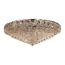Elegant Lighting - Elegant Lighting ECA4F36 Belenus 28 Lights Flush Mount - Featuring a graceful multi-tiered design and a cascading crystal body, these brilliant Belenus chandeliers bring decorative drama to any room setting.