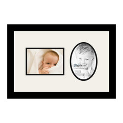 ArtToFrames - ArtToFrames Collage Photo Frame  with 2 - 5x7 Openings - This classic Satin Black, 1.25 inch wide collage frame, features an arrangement for 2 - 5x7 photos of your choice. This collage is part of a vast collage frame group and boasts a sweeping line of durable frames at a price you can smile about! Handcrafted and formed to showcase your photos making sure you 2 - 5x7 art will fit exactly so. Bordered in a bold Satin Black, high-end frame and joined by a clean Super White mat, the collage arrangement truly flaunts your very own prized artwork, and good-time memories in an entirely interesting and memorable way. This collage frame comes protected in Regular Glass, easy-to-use with appropriate hardware and can be on display within a few seconds. These superior quality and authentic wood-based collage frames differ in style and dimension; all in contemporary and modern design. Mats are available in a assemblage of color tones, spaces, and shapes. It's time to tell your story! Preserving your memories in an original and imaginative brand-new way has never been easier.