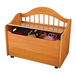 "KidKraft - Kidkraft Kids Room Toddler Gift Doll Organizer Play Toy Storage Chest Box Honey - Our Limited Edition Toy Chest keeps rooms tidy with style. This chest would be a great addition to any kid's room. Dimension: 33""Lx 18.5""Wx 28.875""H"