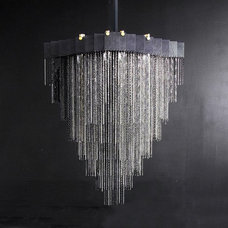 Contemporary Chandeliers Black Kelly Chandelier