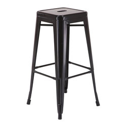 "Office Star - Office Star Patterson 30"" Steel Backless Barstool in Black (Set of 2)-Set of 4 - Office Star - Bar Stools - PTR3030A43 - Simple elegant chair featuring powder coated steel frame and clean modern design. Always ready to serve you with style these chairs are designed to add elegance to your life. Backless design is easy to store while metal frame is easy to maintain and clean. Elegant design with a modern touch these gorgeous Patterson Metal Chairs come fully assembled for your convenience."
