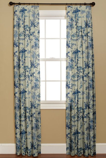 Guest picks blue and white chinoiserie for Blue and white drapery panels