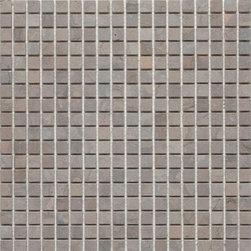 "Mission Stone Tile - 5/8""x 5/8"" Marble Mosaic Tiles, Lagos Azul, Honed - 5/8  Lagos Azul Limestone Mosaic | Honed- Sold Per 1 SF Sheet"