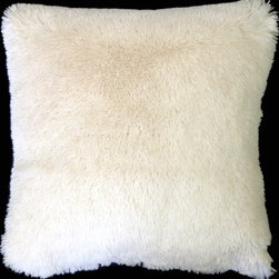 Pillow Decor - Pillow Decor - Soft Plush Cream 20x20 Throw Pillow - This fantastic 20x20 cream throw pillow in light cream is irresistibly plush and soft. The pillow is so cozy and fun that you won't be able to take your hands off it. They are versatile for every room and the kids will love them.