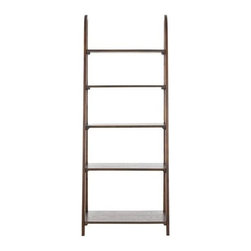 Safavieh - Safavieh Albert Etagere X-A4456HMA - Inspired by the classic library ladder, the Albert Etagere has a contemporary A-line profile with five shelves that increase to a slim 15.9 inches at the base. Display favorite photos, keepsakes, books and more on this clean transitional piece crafted of pine in Medium Oak finish.