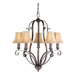 Murray Feiss - 5 Bulb Corinthian Bronze Chandelier - - UL Approved.