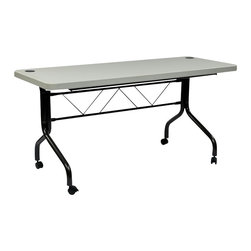 "Office Star - Office Star FT Series Multi Purpose Flip Table with Locking Casters - 60"" - Office Star - Meeting / Training Tables - FT6635 - Work Smart 4� Resin Multi Purpose Flip Table with Locking Casters"