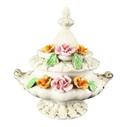 Bassano - Consigned Vintage Italian Capodimonte Style Soup Tureen Bowl - Product Details