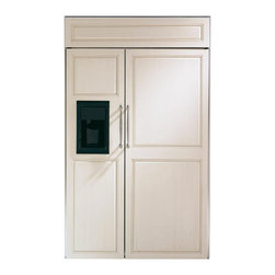 """GE Monogram 48"""" Built-In Side-by-Side Refrigerator with Dispenser - 48"""" Built-In Side-by-Side Refrigerator with Dispenser, LED lighting and climate controlled drawers."""