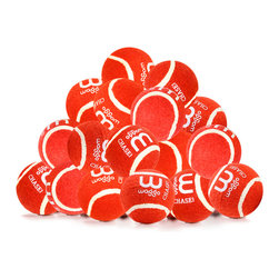Waggo - Play Balls - 15 Pack, Red - What pup doesn't love a classic game of fetch? Our Play Balls are perfect for a romp around the park, or a bounce across the living room. Made from rubber and felt, our 15 pack of balls will keep your pup's games colorful and fun for many playtimes to come!