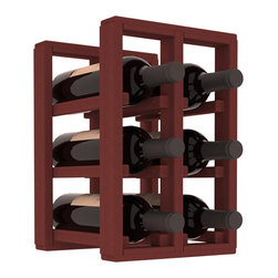 Wine Racks America® - 6 Bottle Counter Top/Pantry Wine Rack in Redwood, Cherry Stain - These counter top wine racks are ideal for any pantry or kitchen setting.  These wine racks are also great for maximizing odd-sized/unused storage space.  They are available in furniture grade Ponderosa Pine, or Premium Redwood along with optional 6 stains and satin finish.  With 1-10 columns available, these racks will accommodate most any space!!