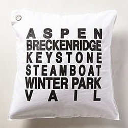 Anthropologie - Colorado Ski Pillow - *By Kriss LeCocq