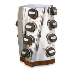 Nambe Twist Spice Rack - How convenient would a spice rack be in my new kitchen? Having all my favorites (and necessities) in one sleek place would be convenient and easy.