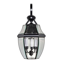 Maxim Lighting - Maxim Lighting 4192CLBU South Park 3-Light Outdoor Wall Lights in Burnished - South Park is a traditional, early American style collection from Maxim Lighting International available in multiple finishes with Clear glass.