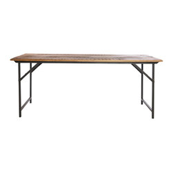 Industrial-Style Folding Table - When you need more room to work on a big project, this elegant industrial-style table from Cox & Cox is ready when you are — and it's easy to fold away when you're done too.